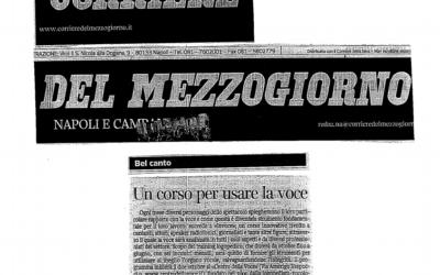 Un corso per usare la voce – Corriere del mezzogiorno (29 ottobre 2012)
