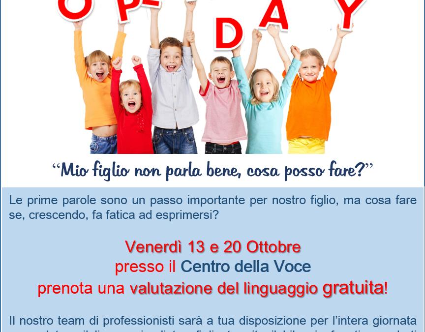 Open Day – Venerdì 13 e 20 ottobre 2017