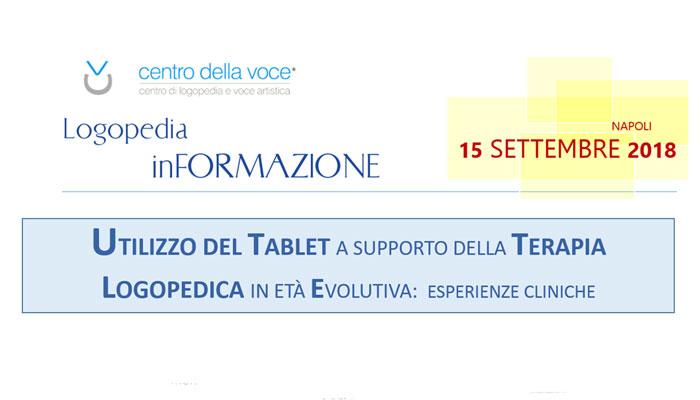 Utilizzo del tablet a supporto della terapia logopedica in età evolutiva