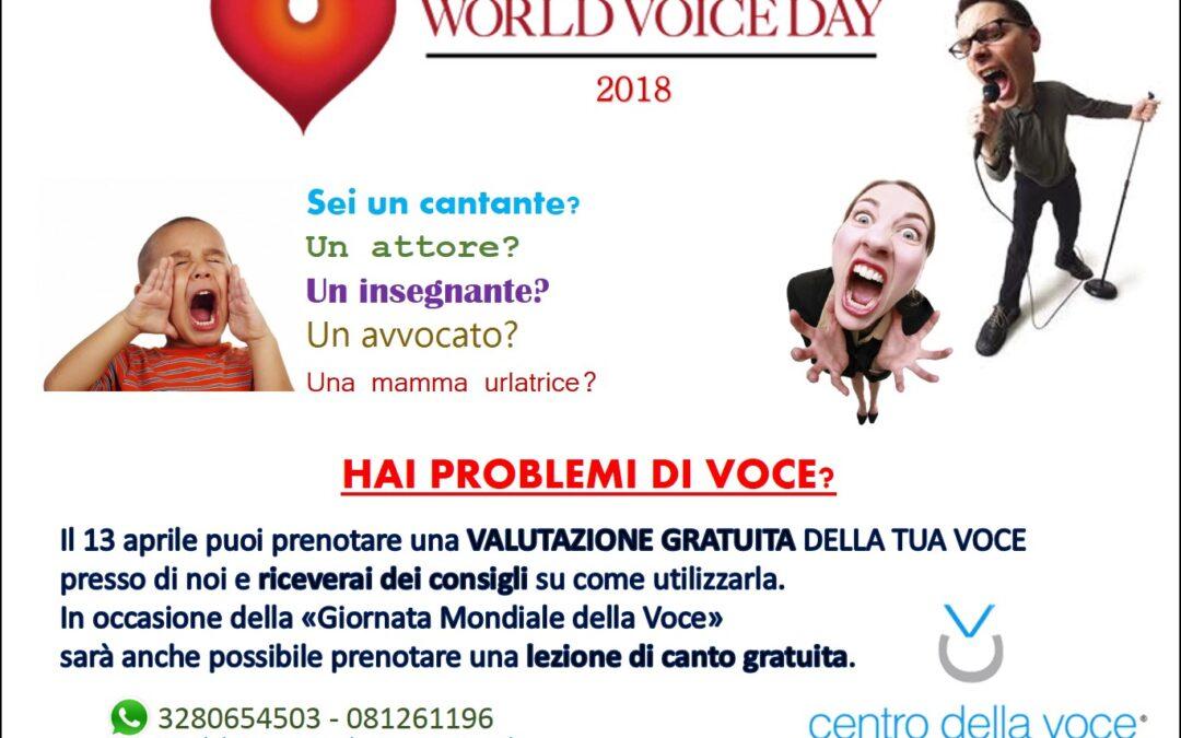 Giornata mondiale della voce 2018